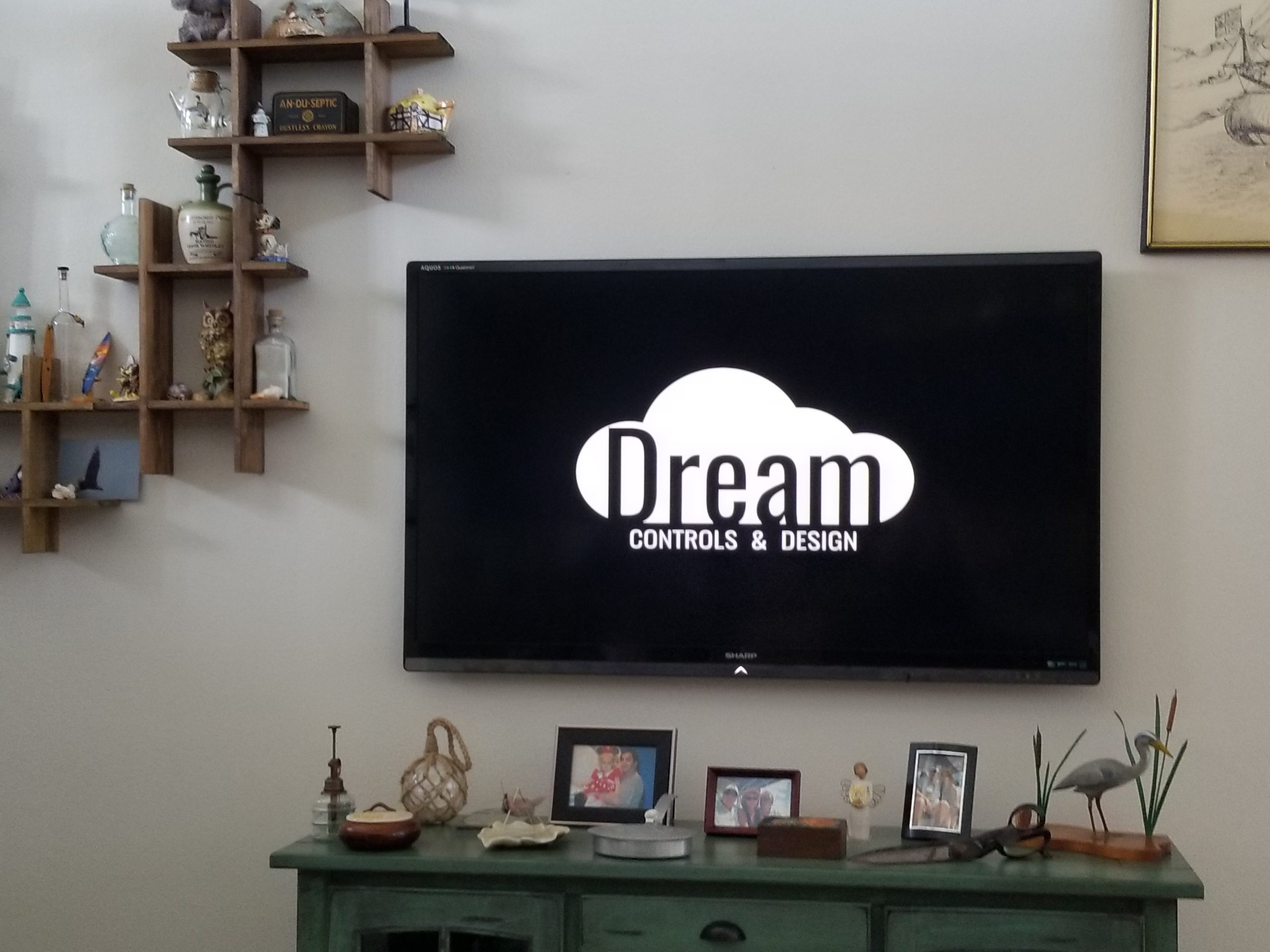 Photo of Wall mounted TV by Dream Controls